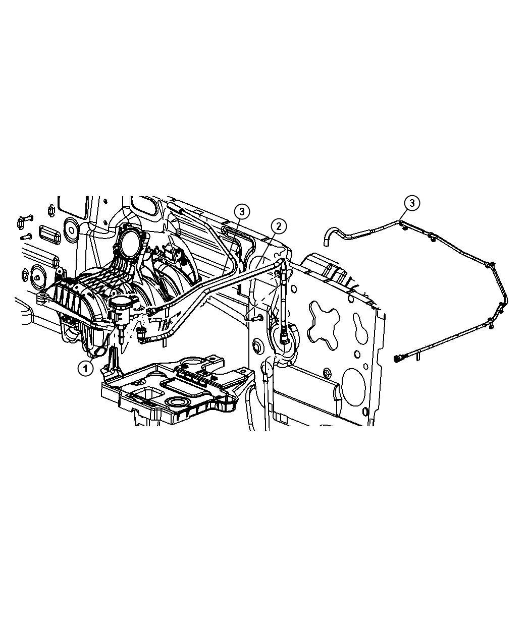 2008 Jeep Liberty Tube  Fuel Vapor  Throttle Body Purge