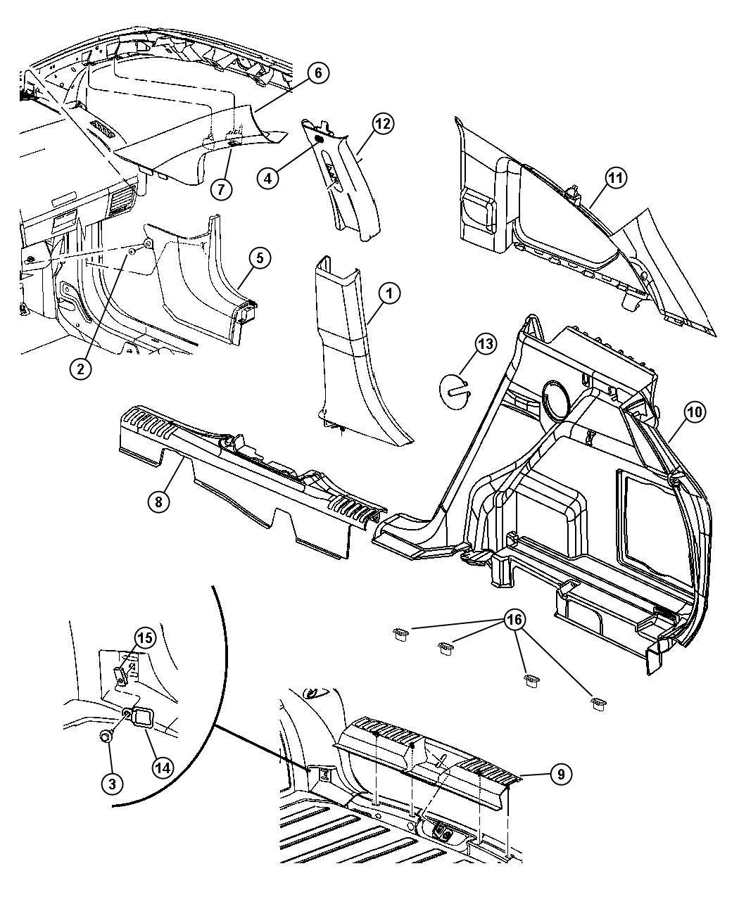 Dodge Caliber Screw  Round Head  M6x1 00x23 200  Left
