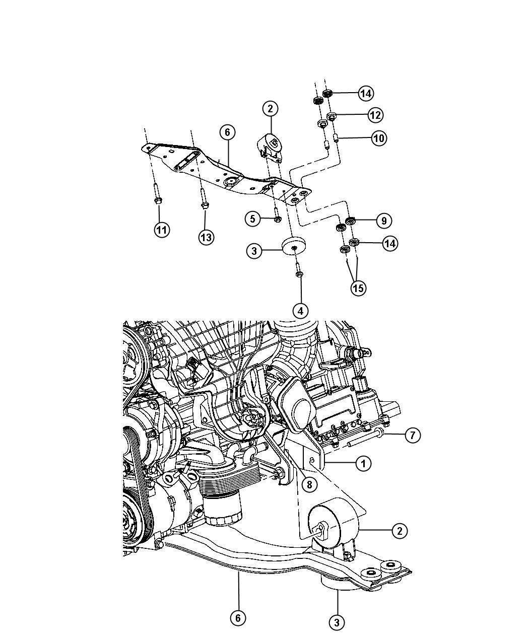 2008 Dodge Avenger Engine Mounting Front FWD 2.4L [2.4L I4 ...