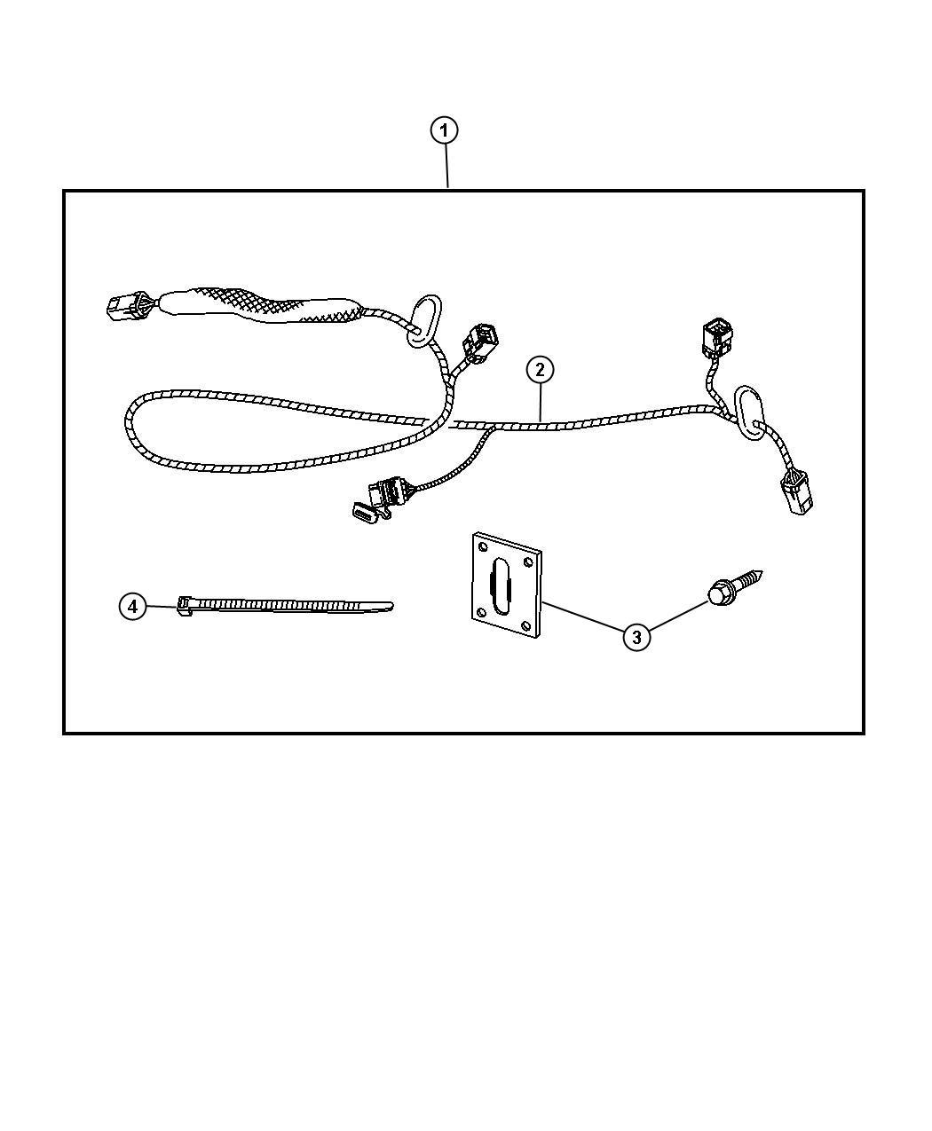 82208434ac - wiring kit  trailer tow