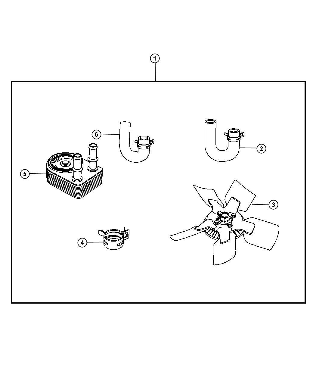 Dodge Nitro Cooler Kit  Engine Oil  Kitfor  Coolers