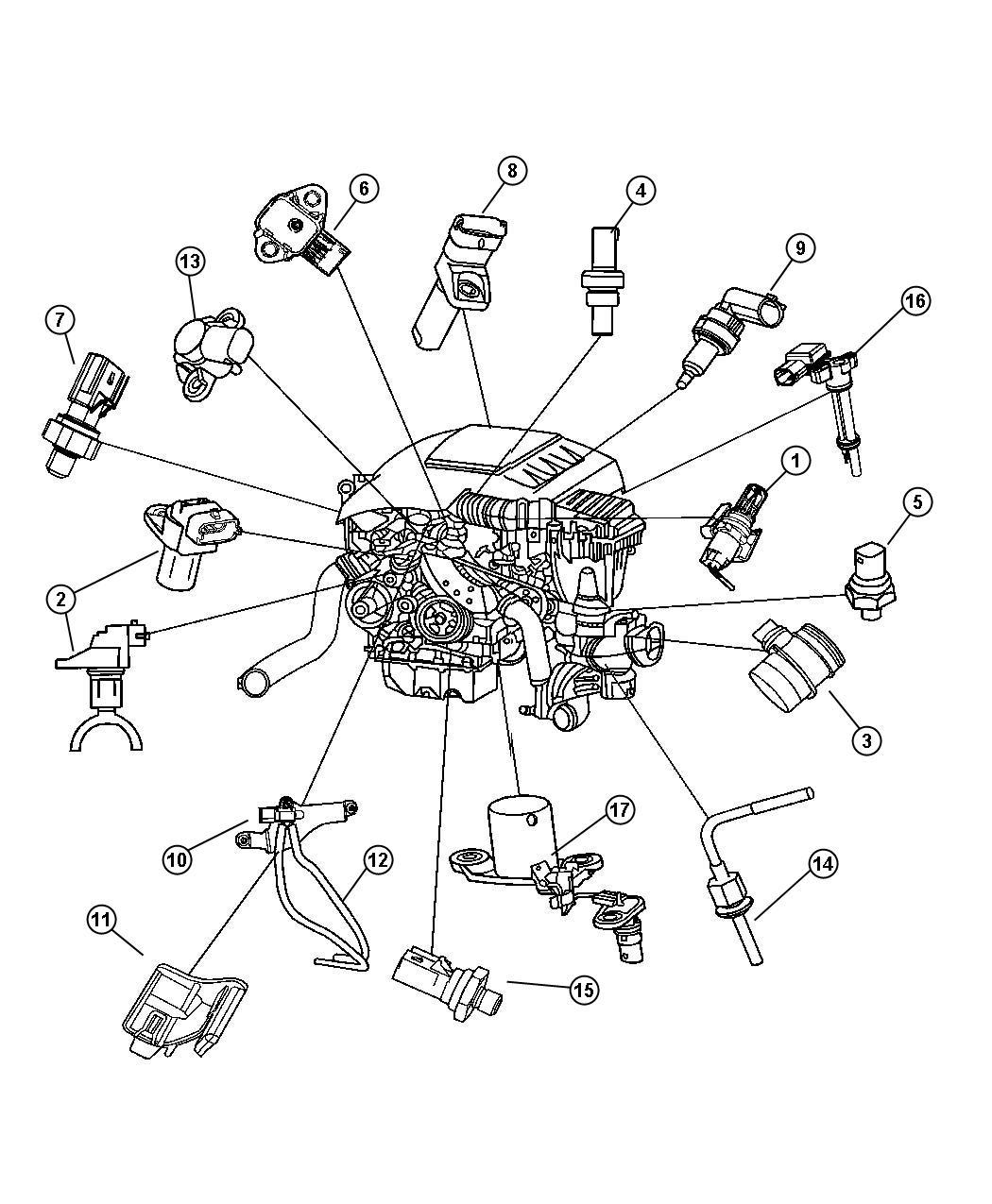 Jeep Grand Cherokee Sensor  Air Temperature  Coolant Temperature  Temperature