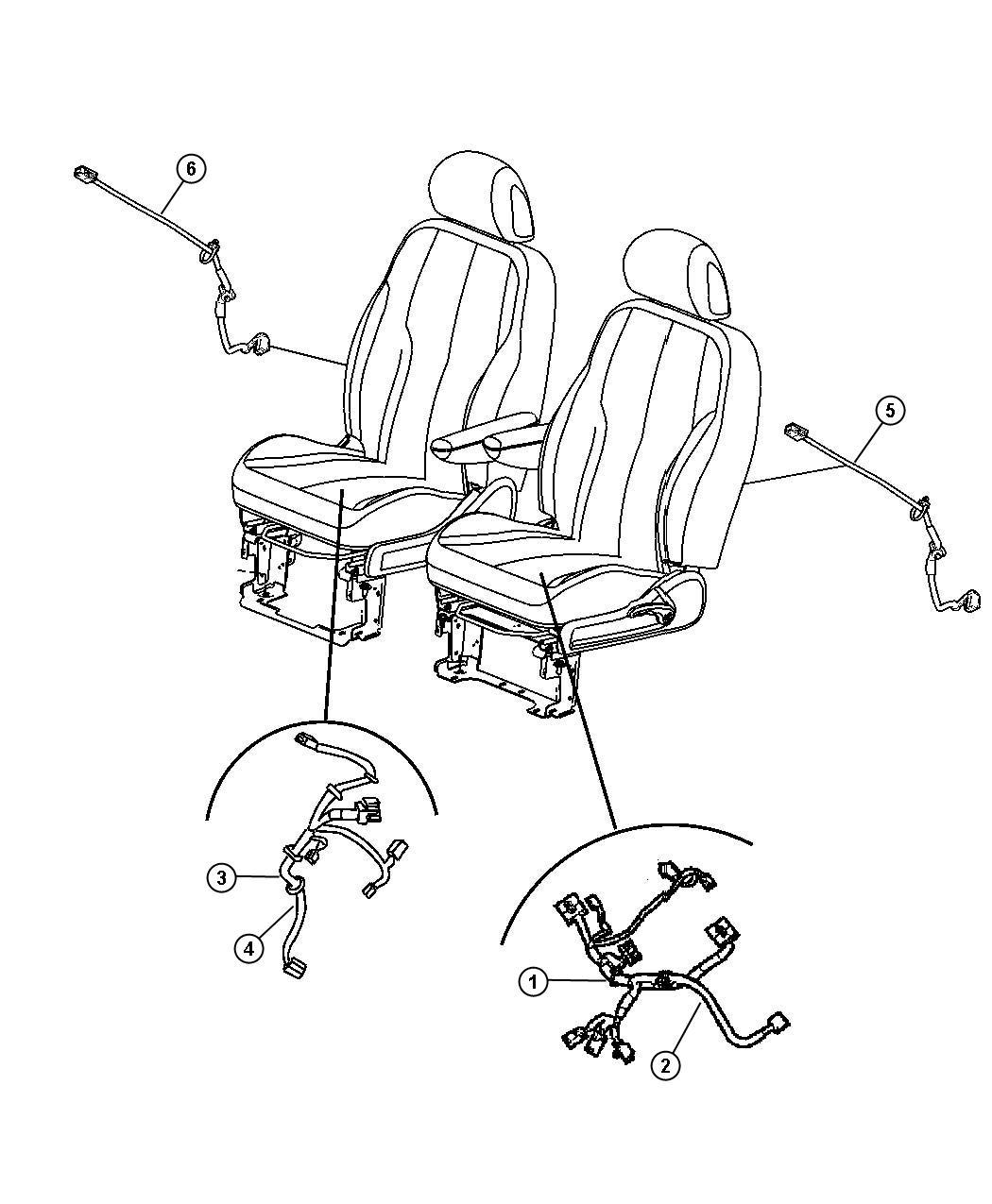 Chrysler Pt Cruiser Wiring  Power Seat  Power  Side Air