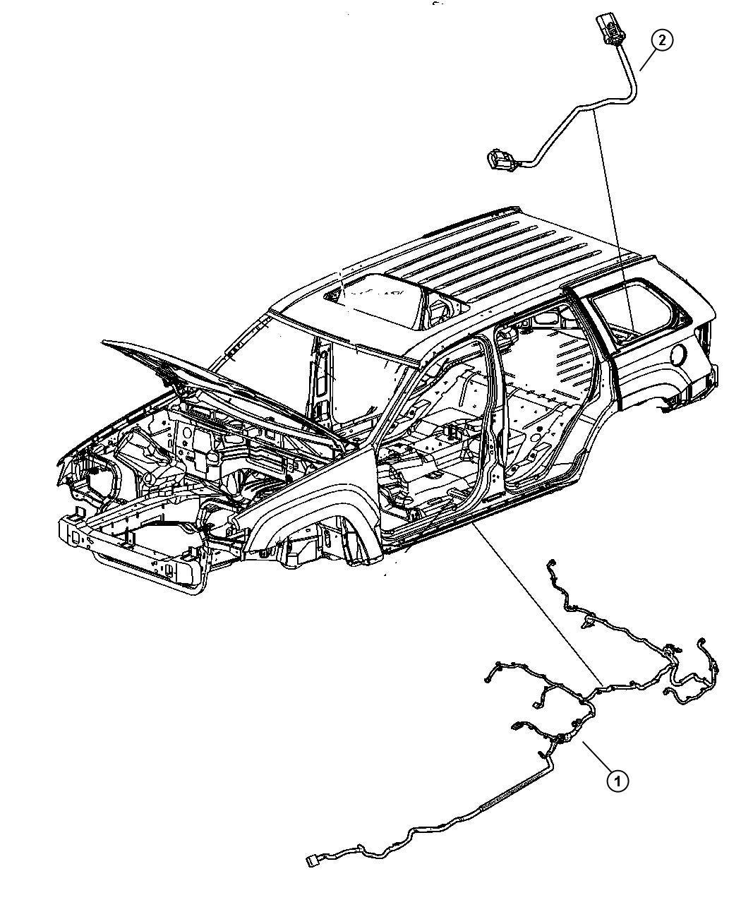 Jeep Grand Cherokee Wiring  Underbody   Tire Pressure
