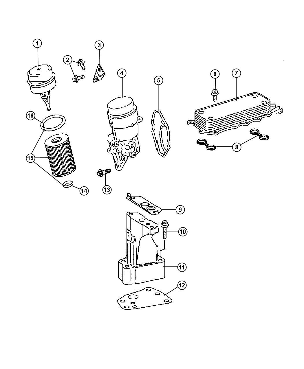 Engine Oil Filter And Housing 3.0L [3.0L V6 Turbo Diesel Engine]. Diagram