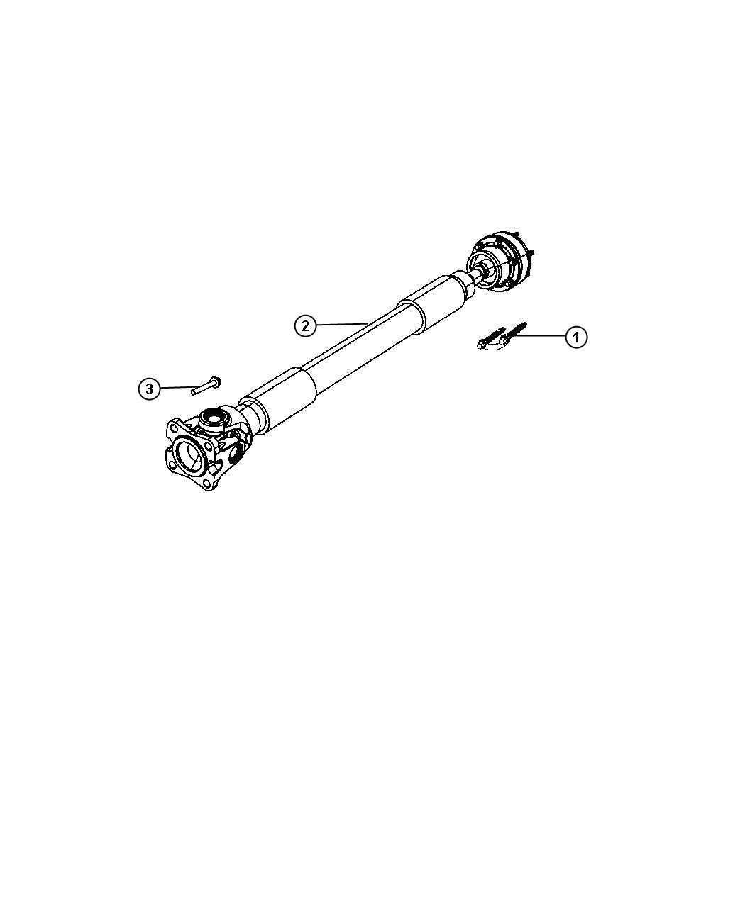 Jeep Liberty Used For  Bolt And Retainer Kit  Driveshaft