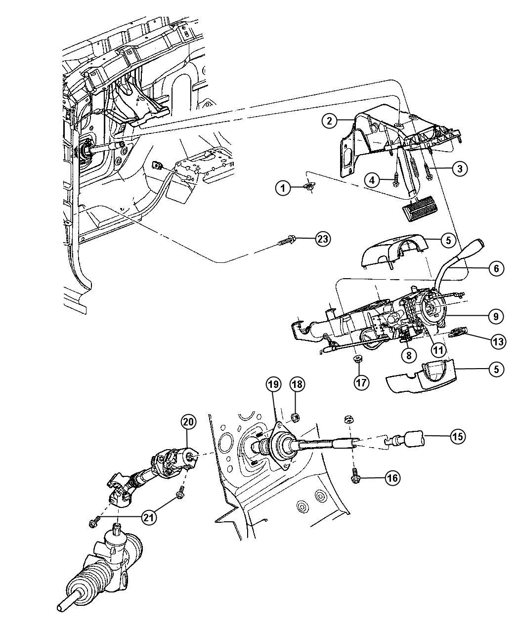 2008 Dodge Ram 1500 Knob  Tilt Lever Release   Tilt Steering Column   After 04  03  06