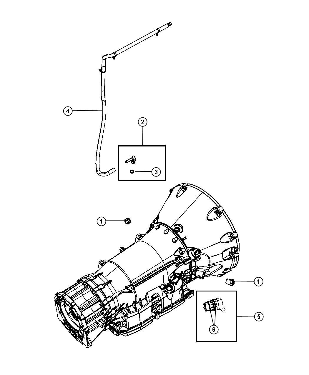 Dodge Nitro Tube  Transmission Vent