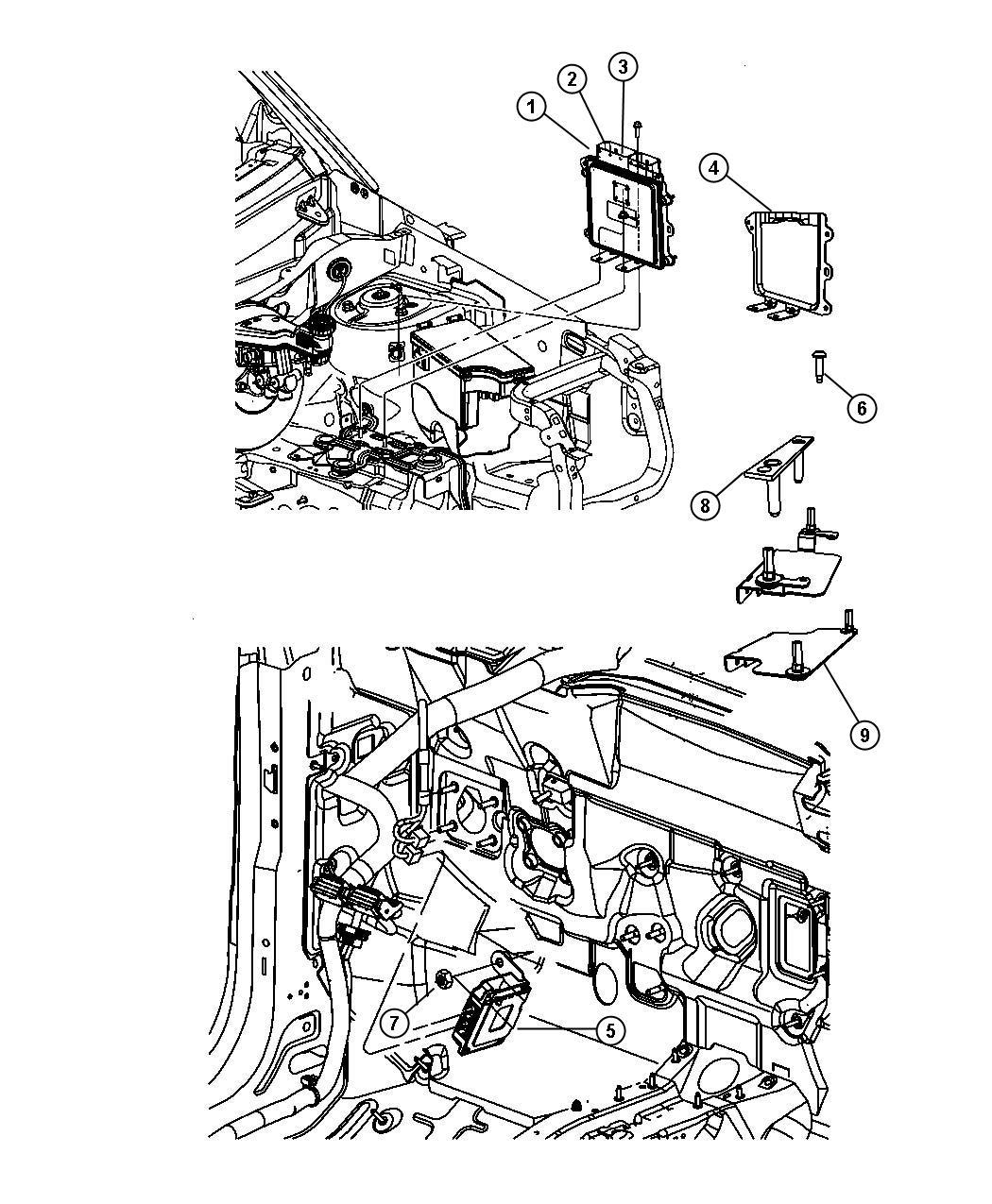 Dodge Caliber Module  Powertrain Control  Generic