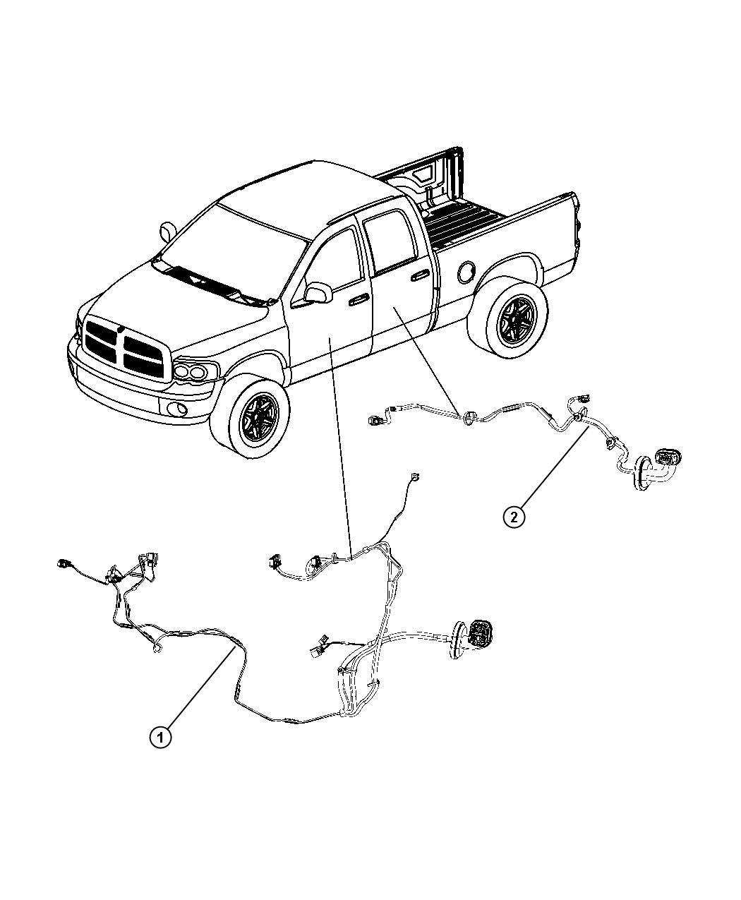 Dodge Ram 3500 Wiring  Rear Door  Right Or Left    4