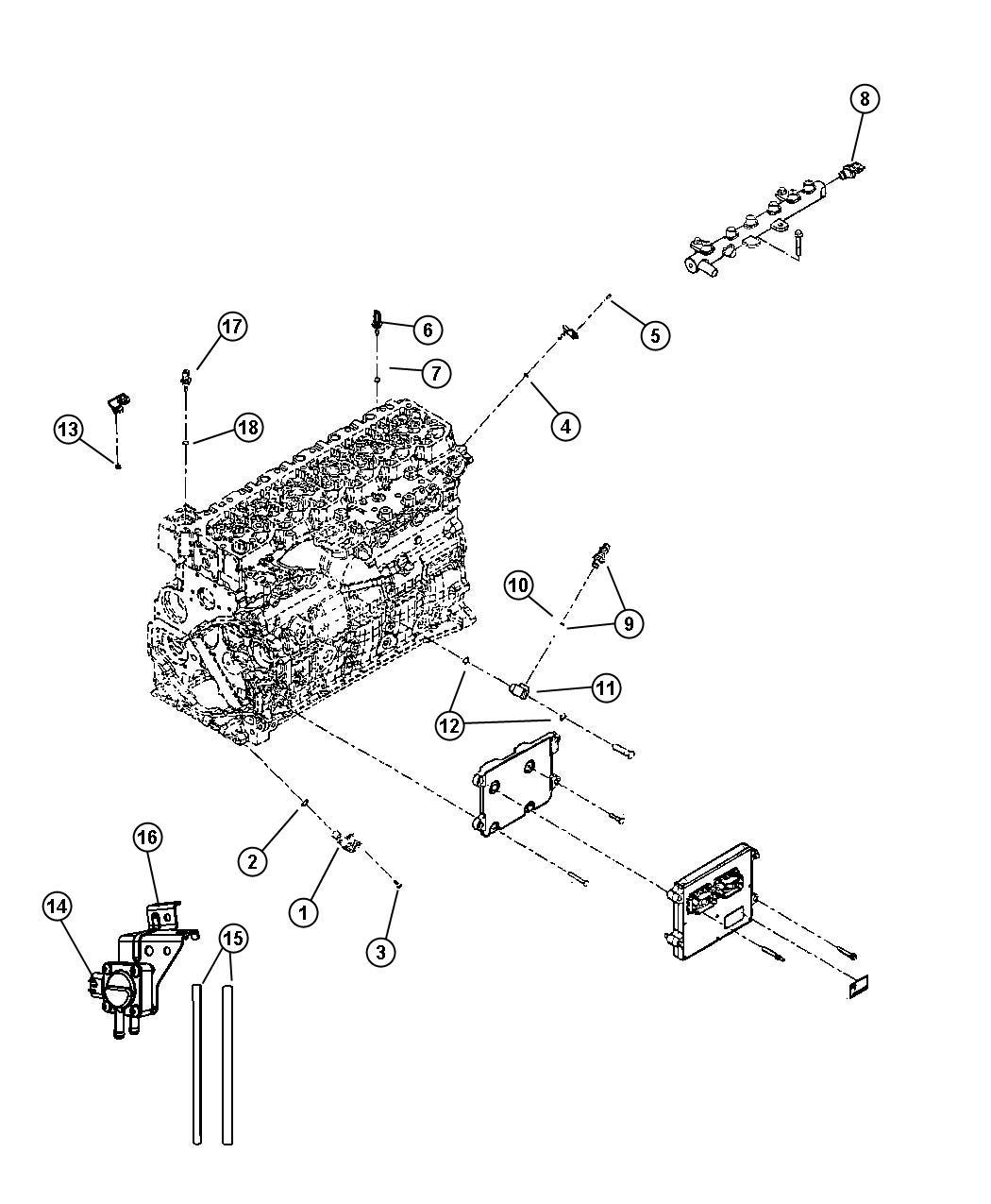 2009 dodge ram 2500 laramie quad cab 6 7l cummins turbo diesel a  t 4x4 bracket  sensor mounting