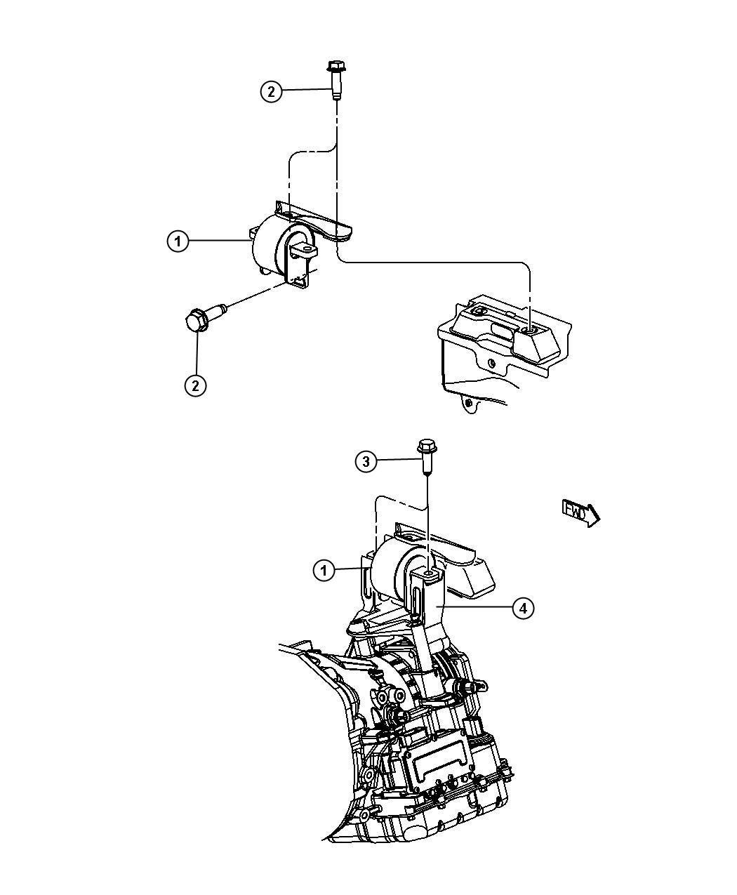 Chrysler Sebring Bushing  Isolator  Transmission Mount
