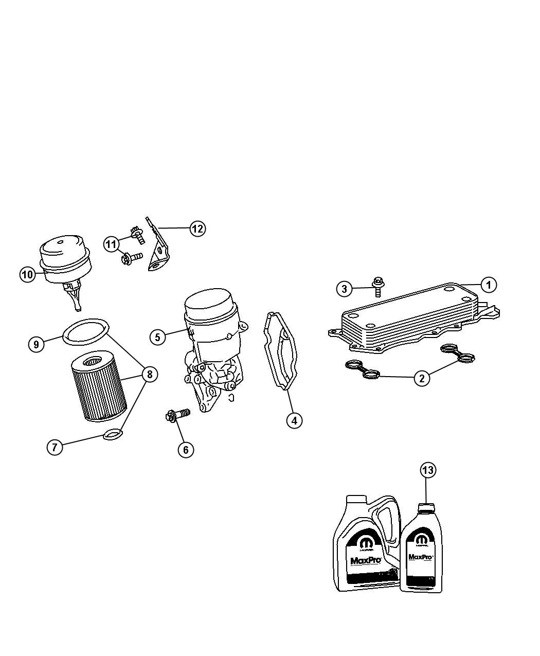 Engine Oil Filter And Adapter [3.0L V6 Turbo Diesel Engine]. Diagram