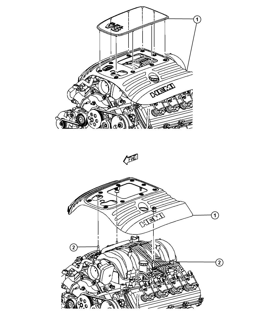 Jeep Grand Cherokee Cover  Engine  Upper