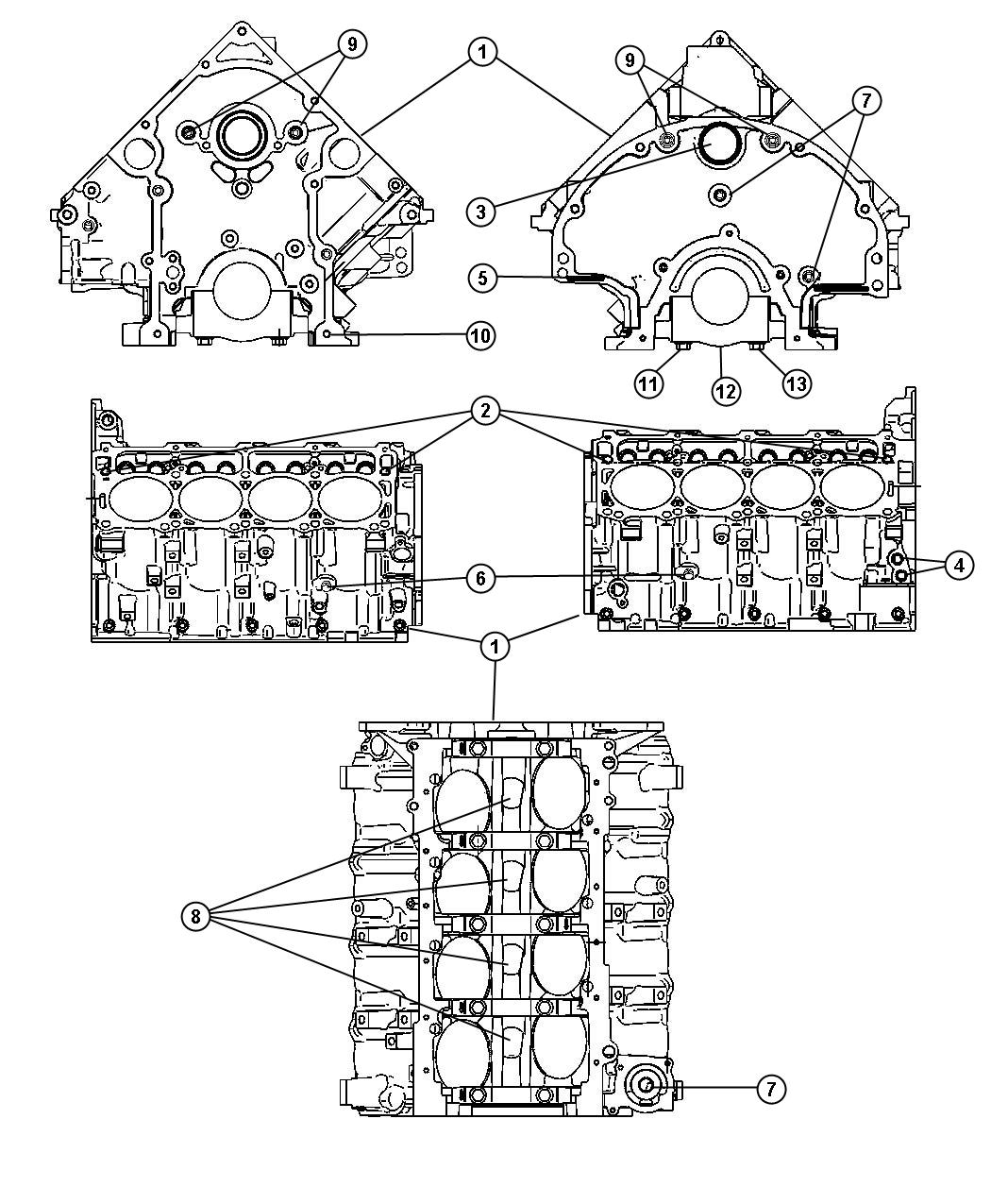 Ram 1500 Engine  Short Block