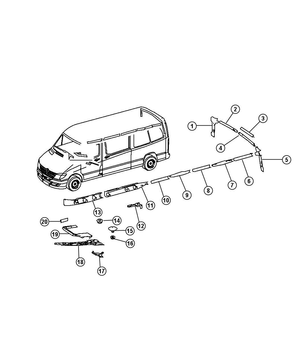 Dodge Sprinter Shield  Wiring  T19  With  Lt Sliding Door