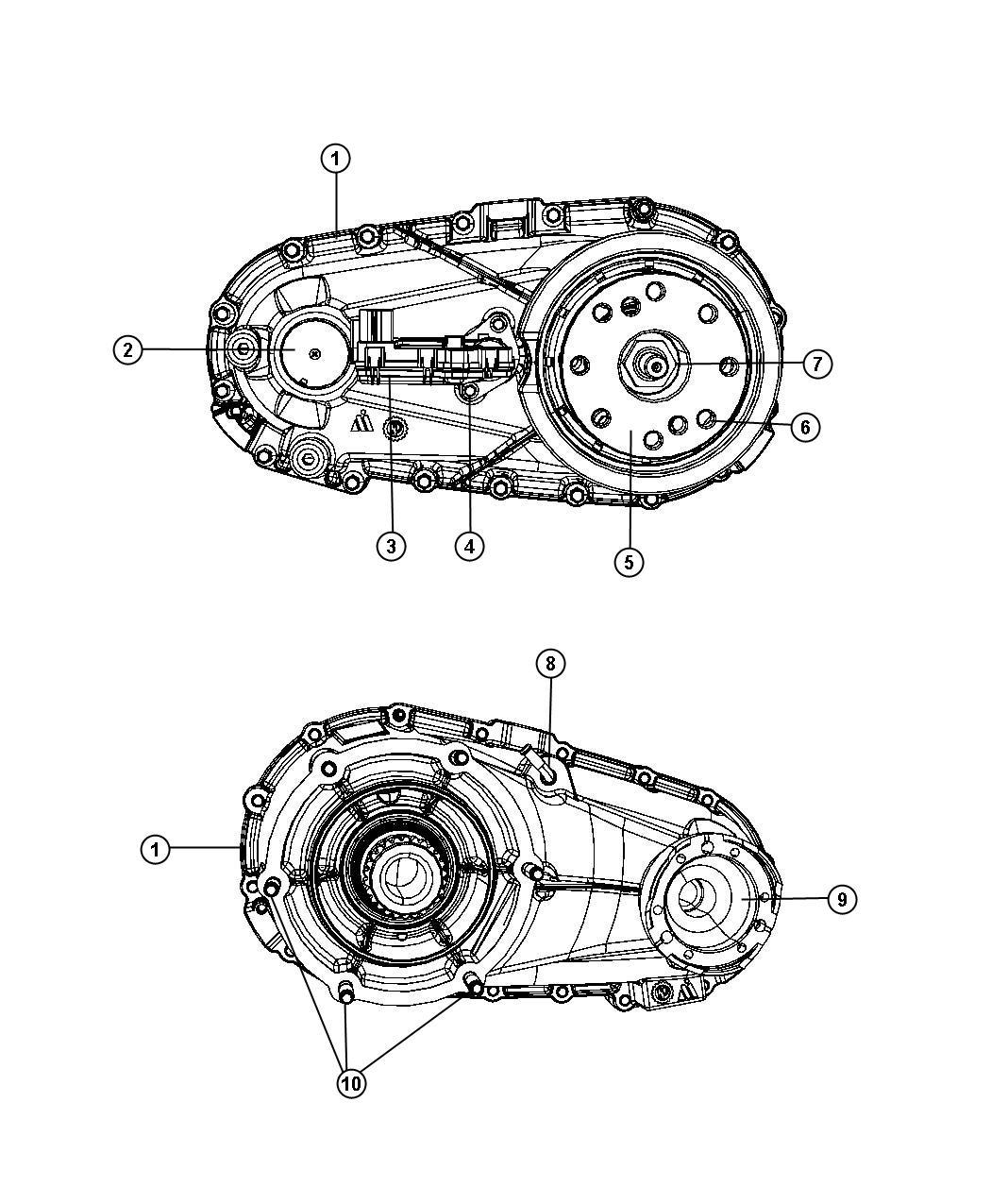 Dodge Nitro Transfer Case  Nvg143   4 0l V6 Sohc Engine   5-speed Auto W5a580