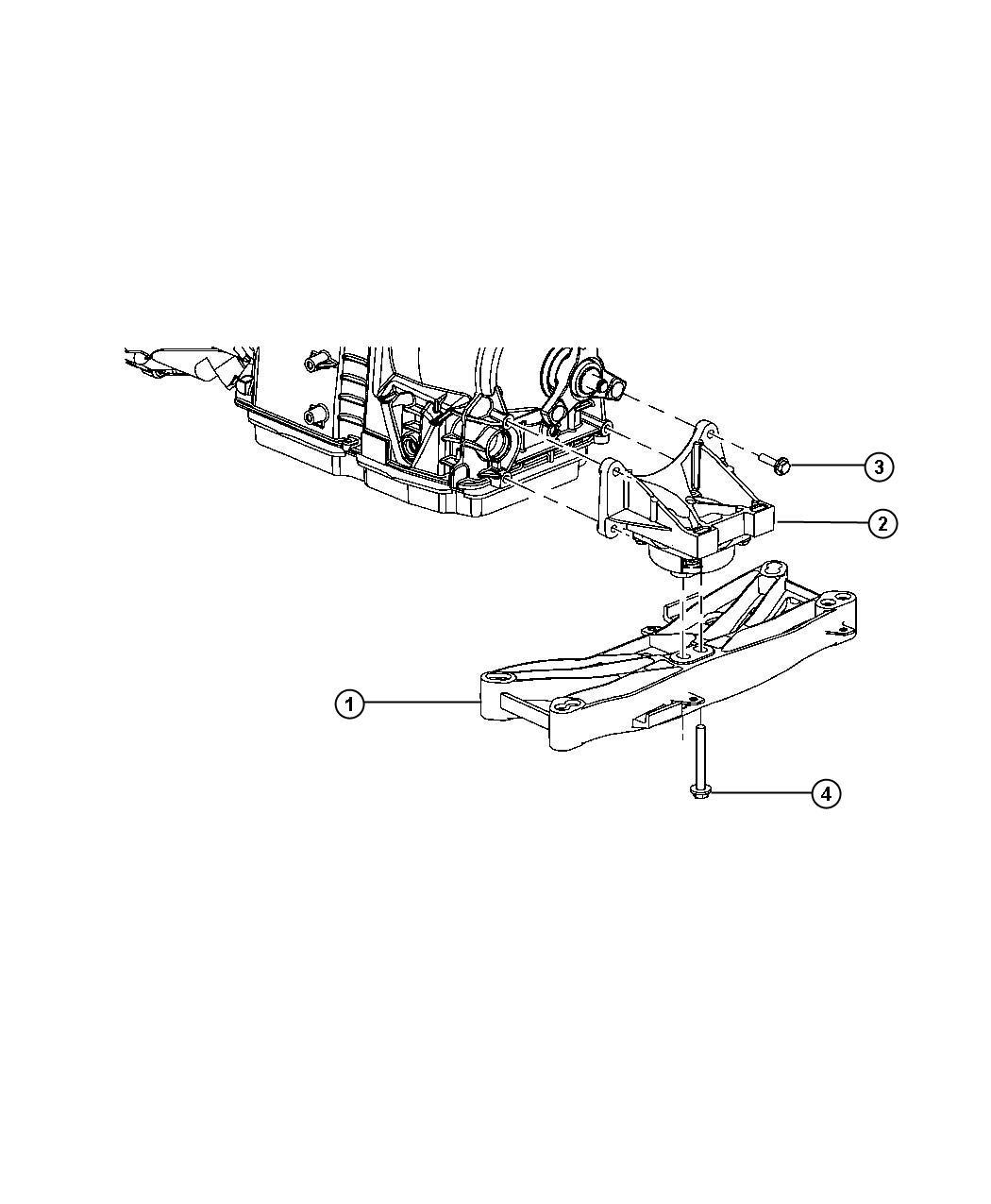 dodge challenger mount  transmission