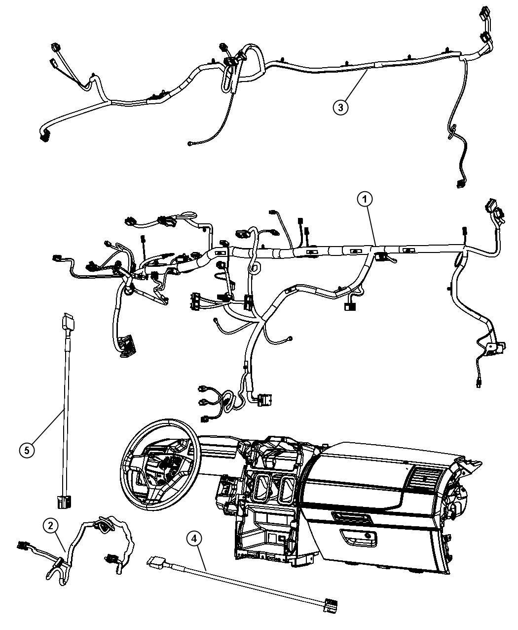 Dodge Grand Caravan Wiring  Instrument Panel