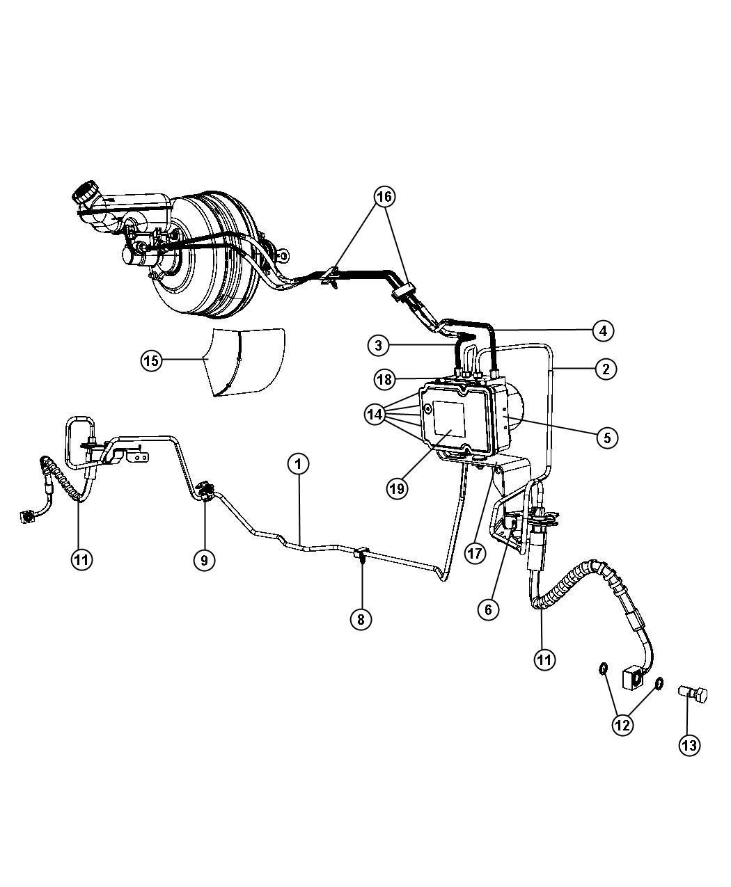 2008 Dodge Grand Caravan Hydraulic Control Unit  Anti