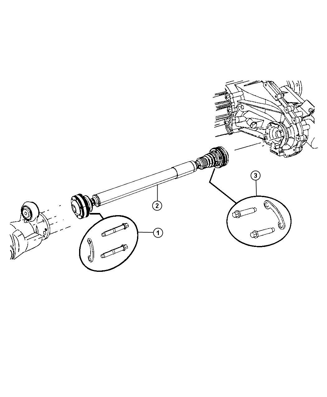 Jeep Liberty Used For  Bolt And Washer  Drive Shaft