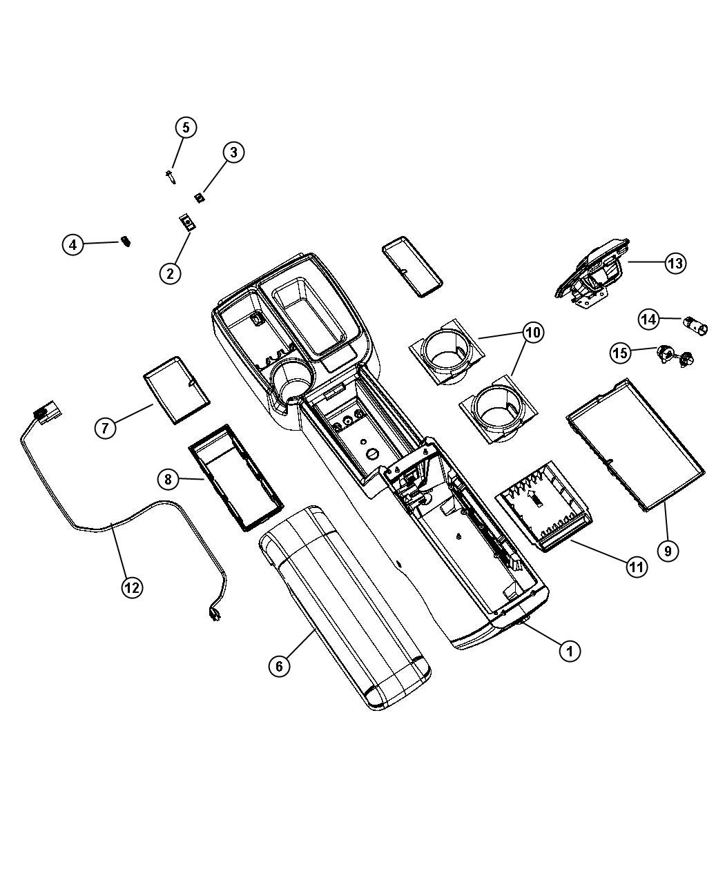 Dodge Dakota Lid  Center Console Storage   D5    Dd   Trim