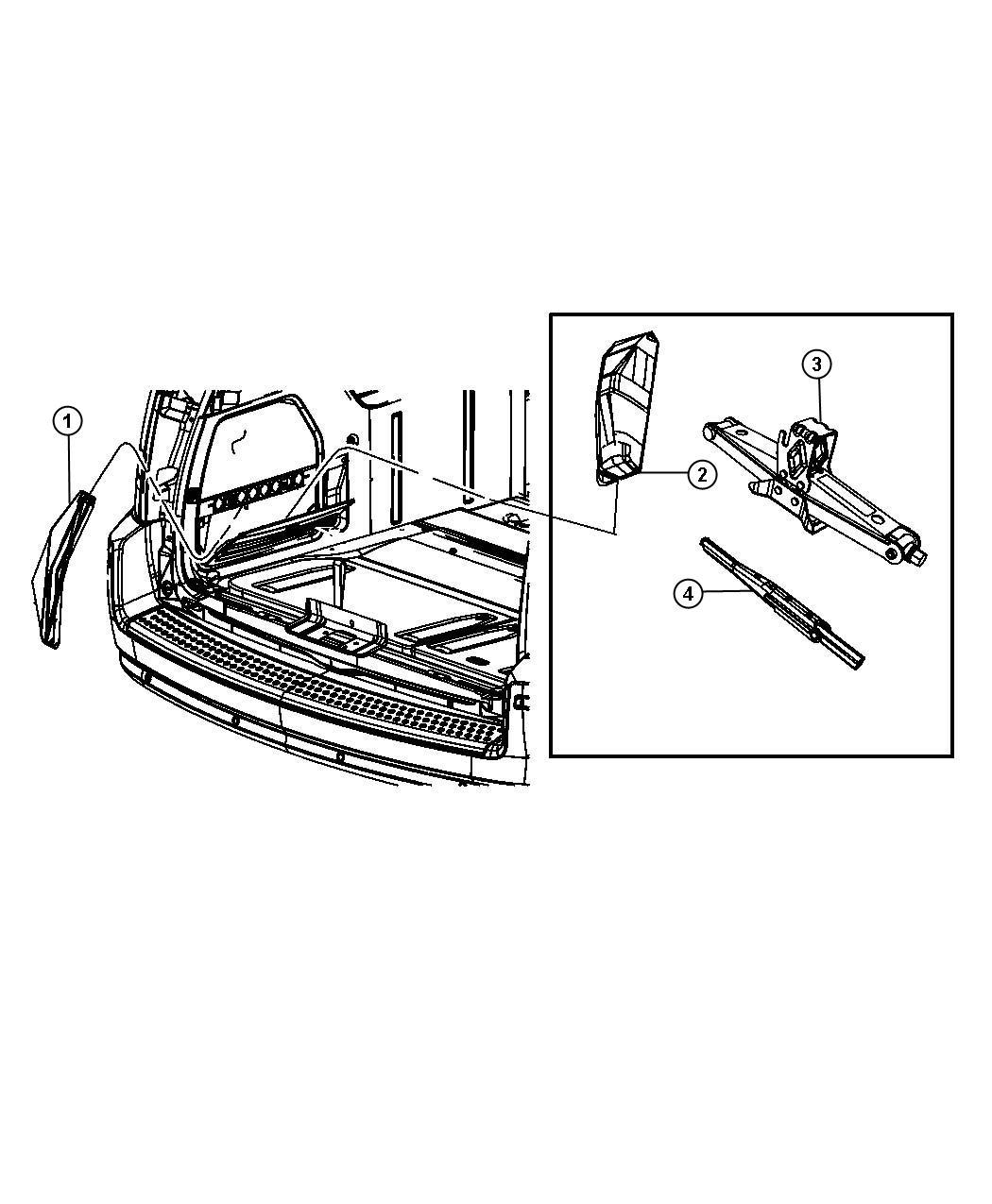 2008 Dodge Grand Caravan Jack  Scissors   Tbt  Or  Compact