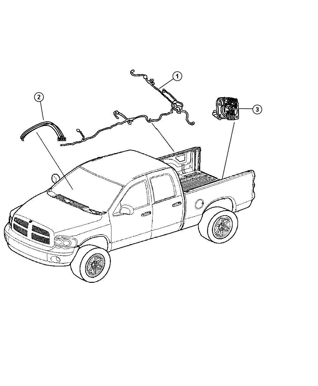 Ram Laramie Wiring  Chassis  Without Trailer Tow
