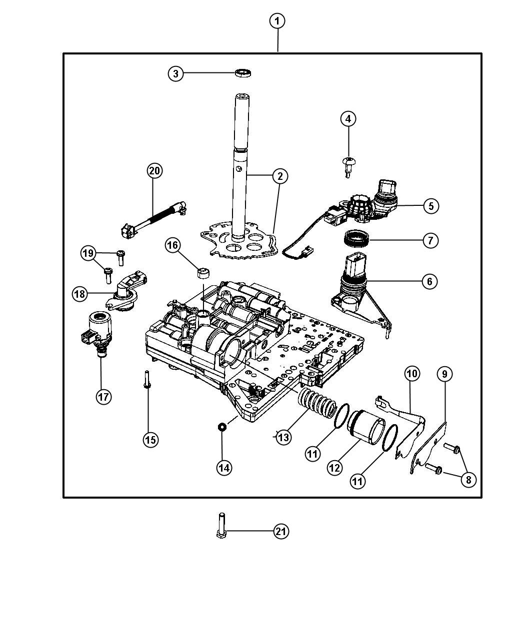 2010 Jeep Wrangler Sensor  Solenoid  Trans Variable Force