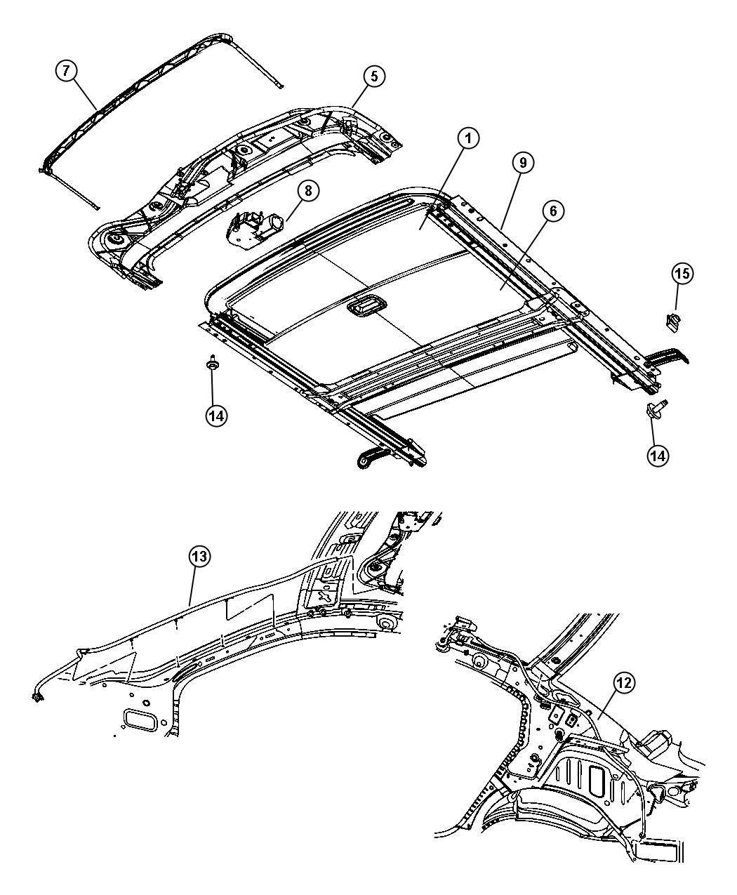 Jeep Liberty Frame  Sunroof   Power Sunroof   Trim   All