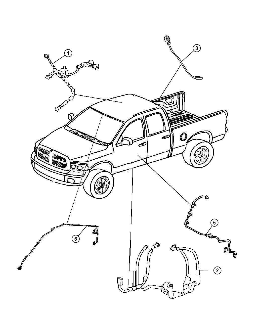 Dodge Ram 1500 Wiring  Body