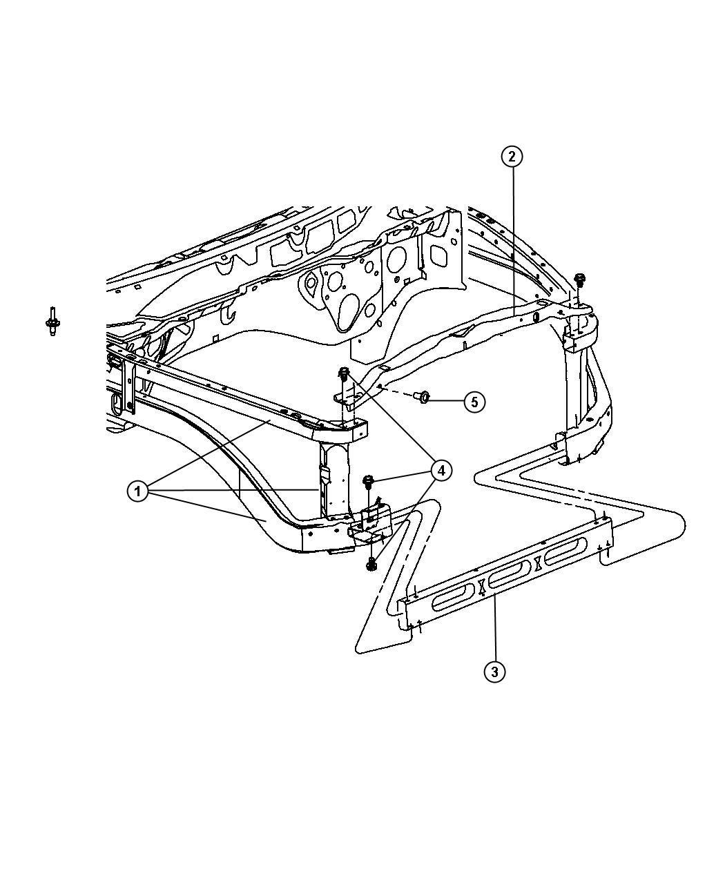 Dodge Ram 3500 Panel  Radiator Closure