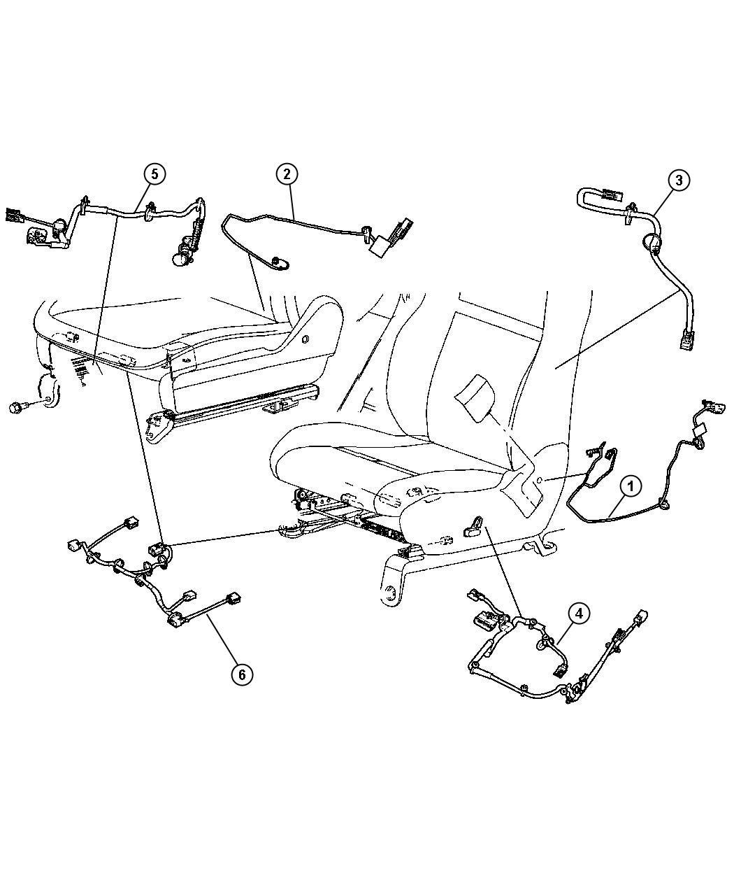 Jeep Grand Cherokee Wiring  Power Seat  Trim   Black Suede