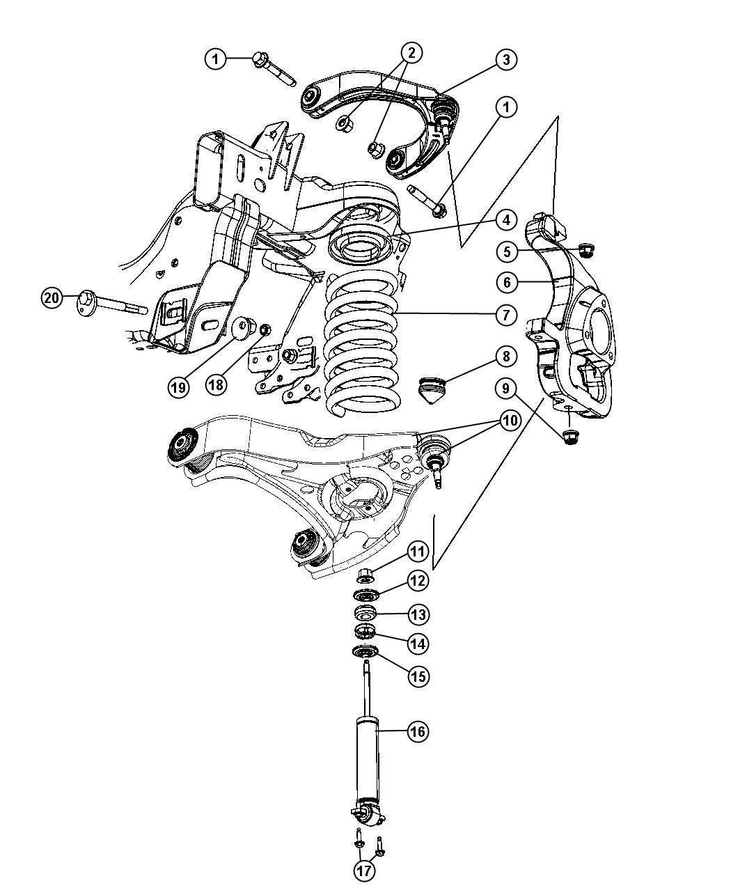 dodge ram 1500 front suspension diagram