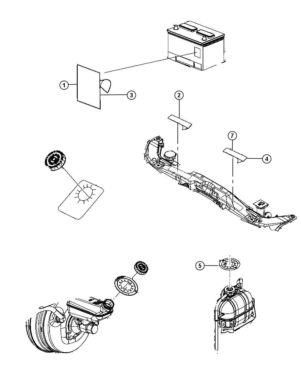 Jeep Liberty Label  Vehicle Emission Control Information   3 7l V6 Engine    Federal
