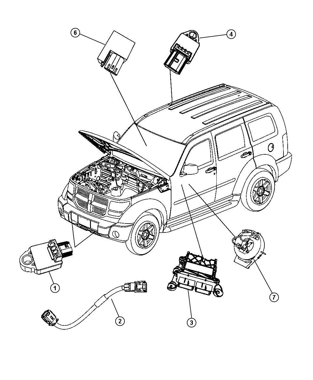 Jeep Liberty Wiring  Jumper  Impact Sensor  Front Impact