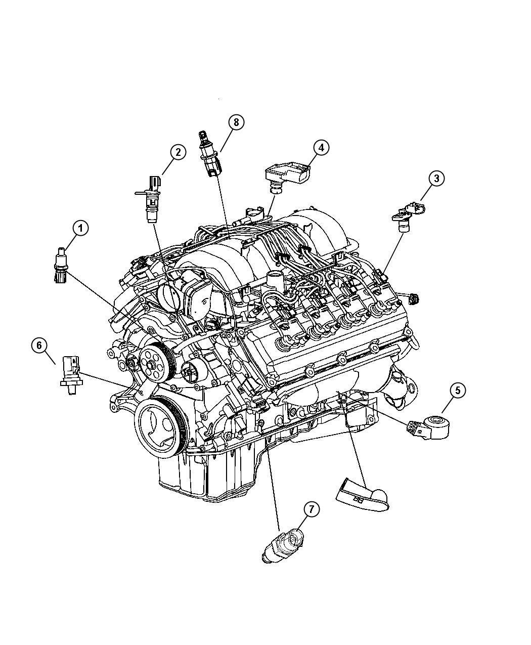 2016 Jeep Renegade Sensor  Coolant Temperature  Fluid