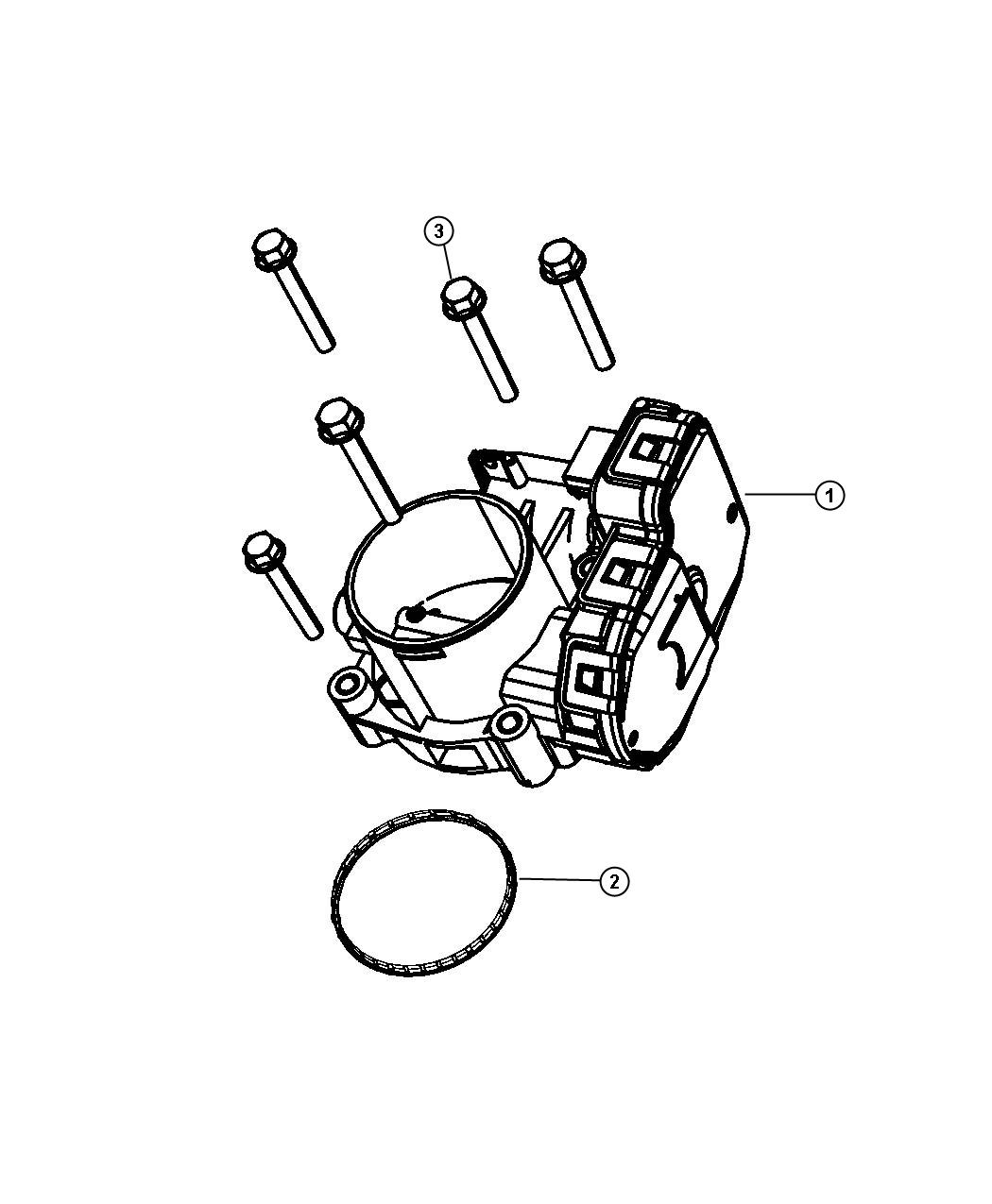 04861661AB  Jeep    Throttle       body    Thottle  indentification