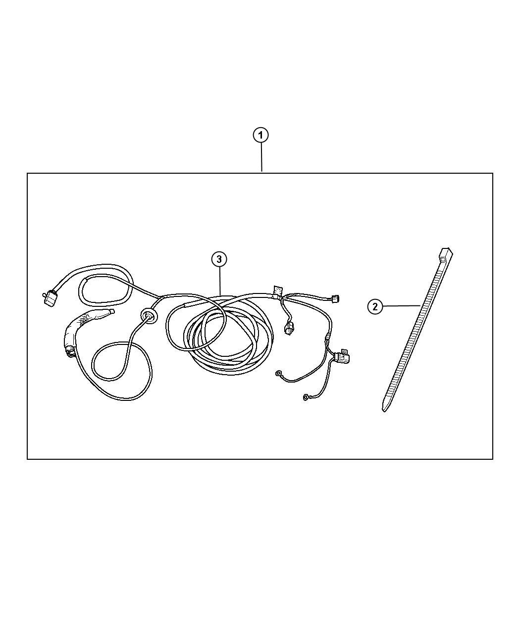 Jeep Patriot Trailer Tow Wiring Harness Kit  With Four-way Flat Trailer Connector