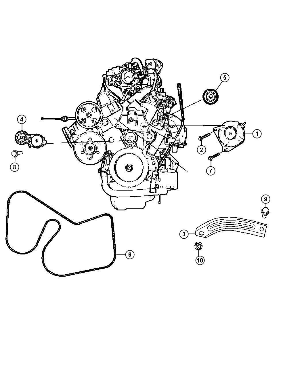 2010 dodge generator  engine  alternatorcomplete