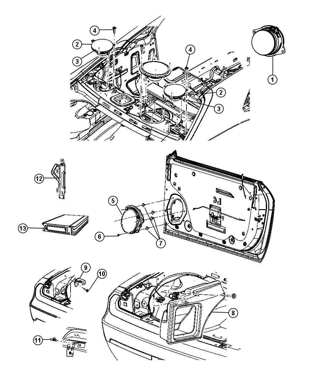 2011 dodge challenger enclosure  speaker  woofer  alternatorgemoldingcolor