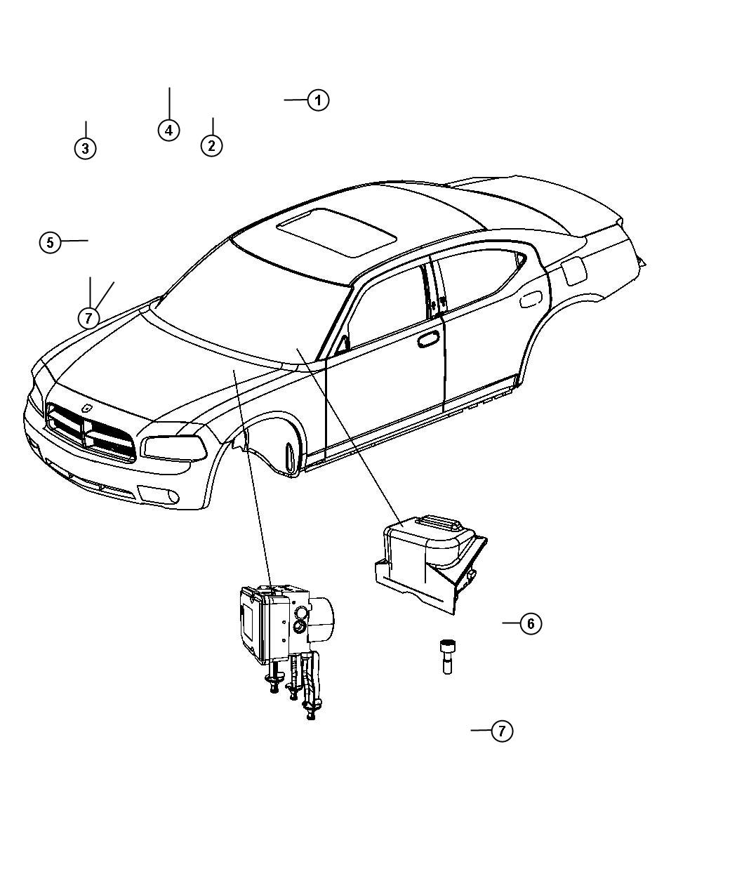 Chrysler 300 Hydraulic Control Unit  Anti