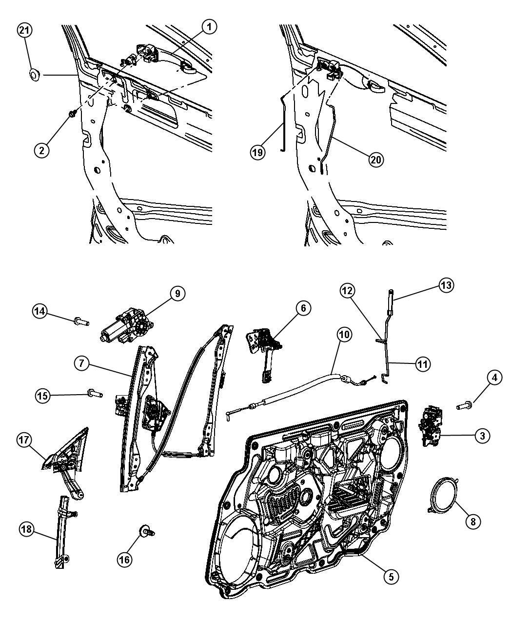 I on Door Of 2009 Chrysler Sebring Window Regulator Diagram