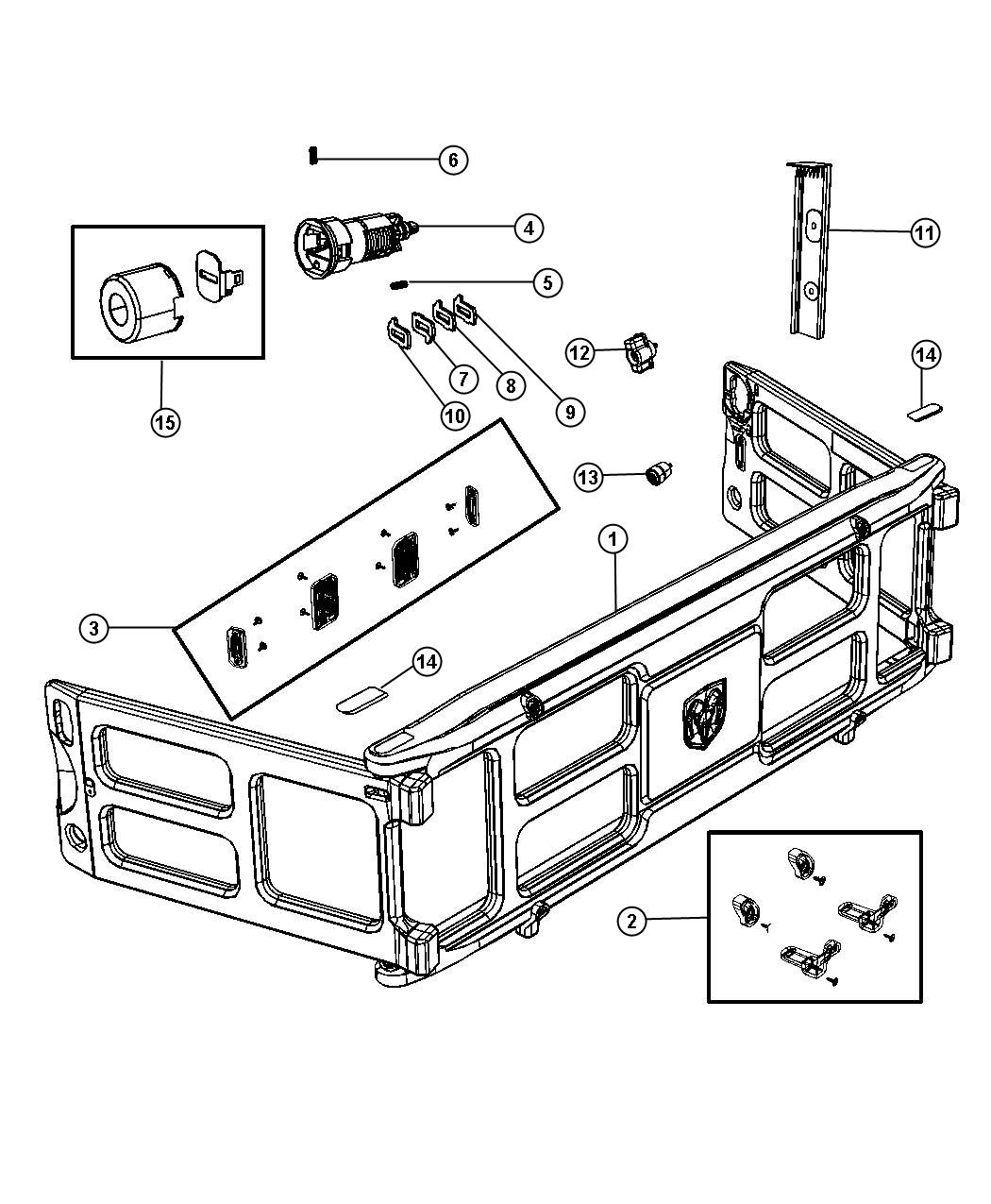 chevy silverado bed parts diagram