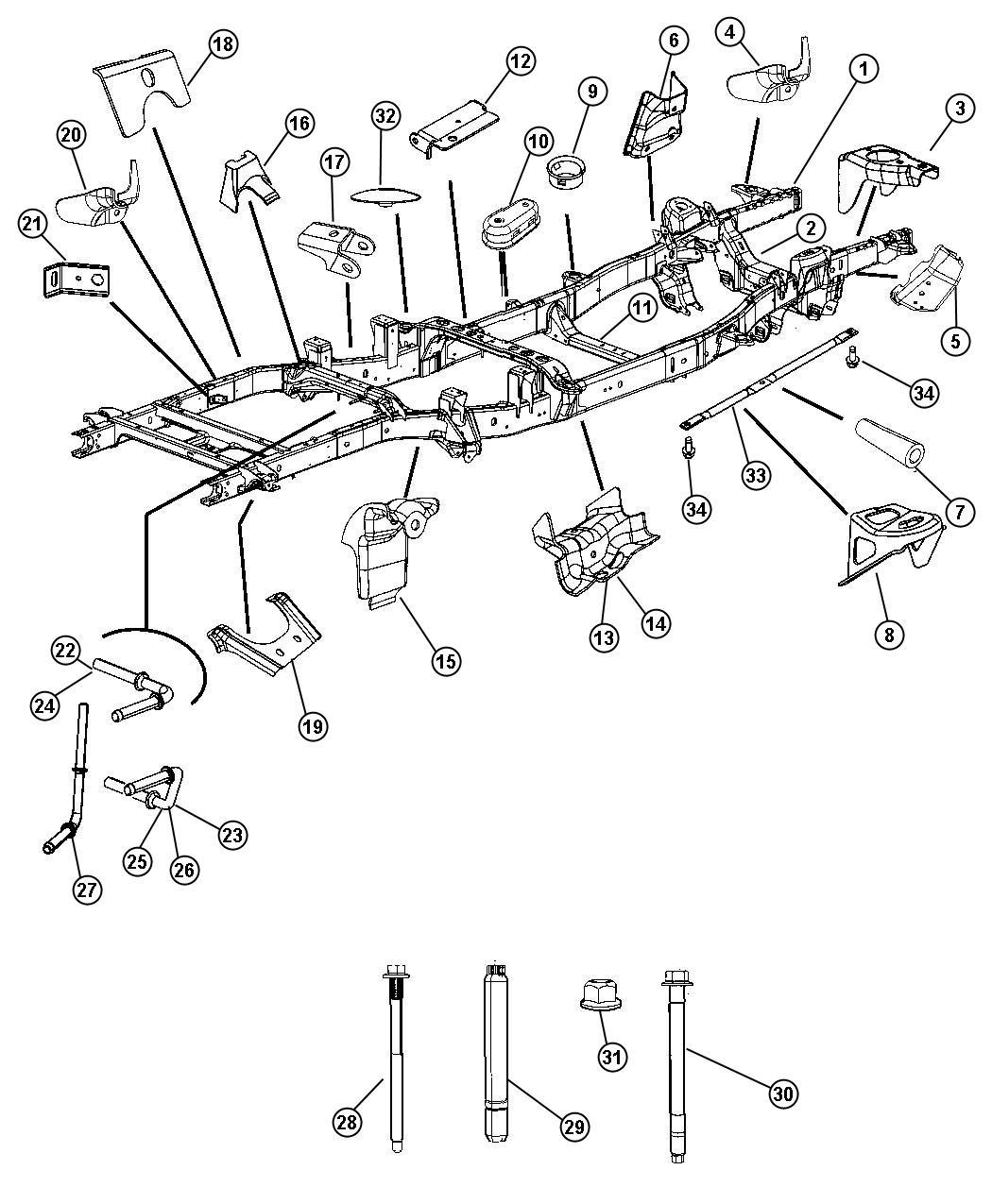ram 1500 crossmember  transmission