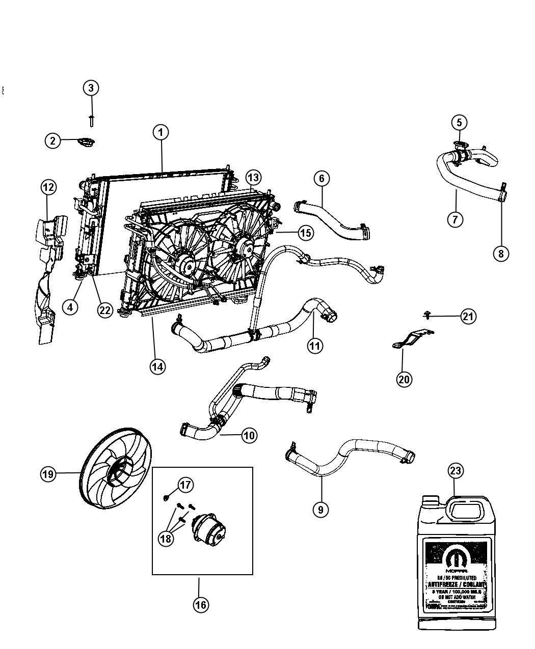 05278697AA  Dodge Cap Coolant recovery bottle  radiator After 021413   Mopar Parts Overstock
