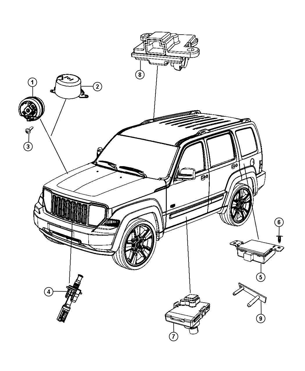 service manual  2008 jeep liberty how to disable security