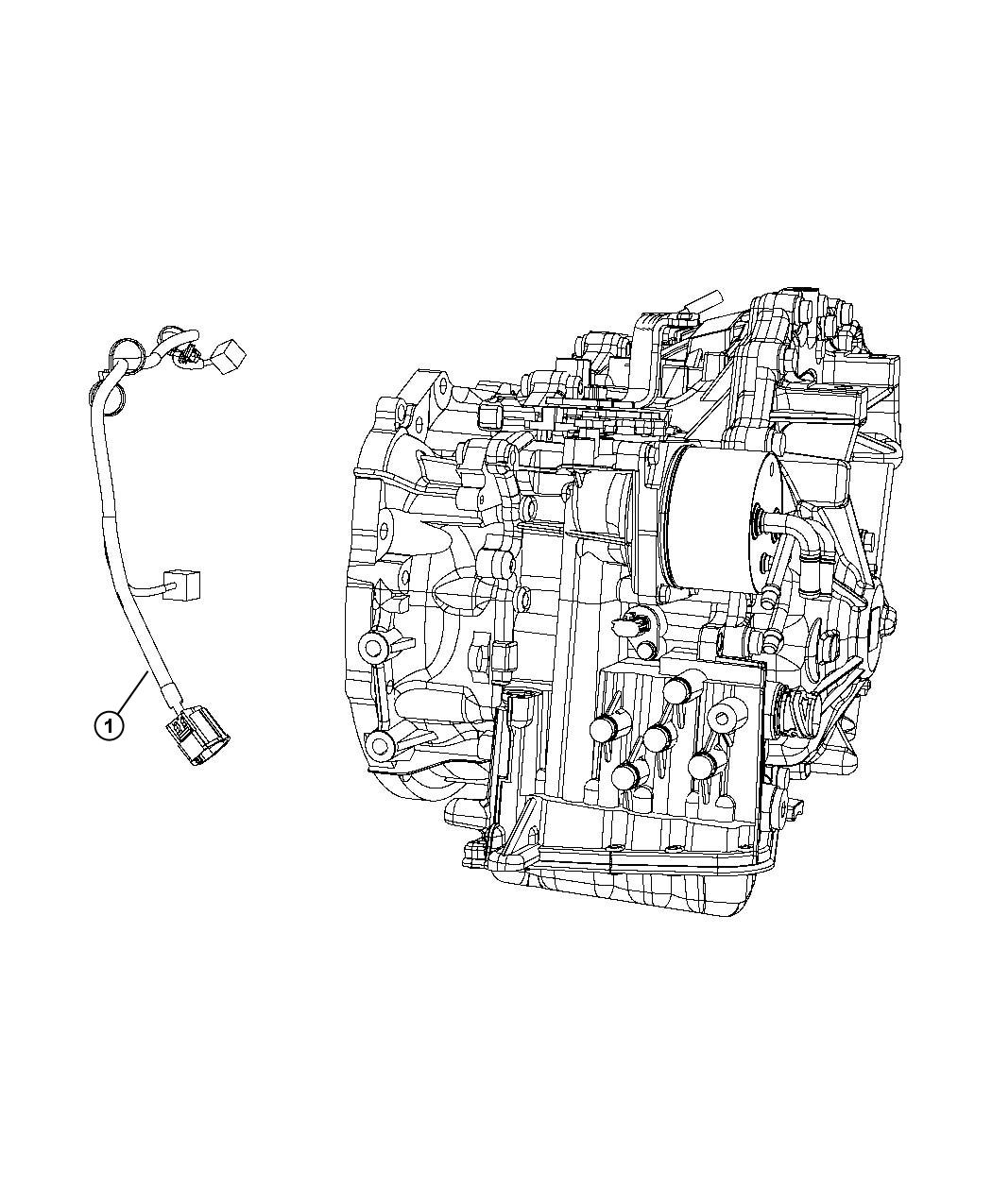 2012 Jeep Patriot Wiring  Transmission  Cases