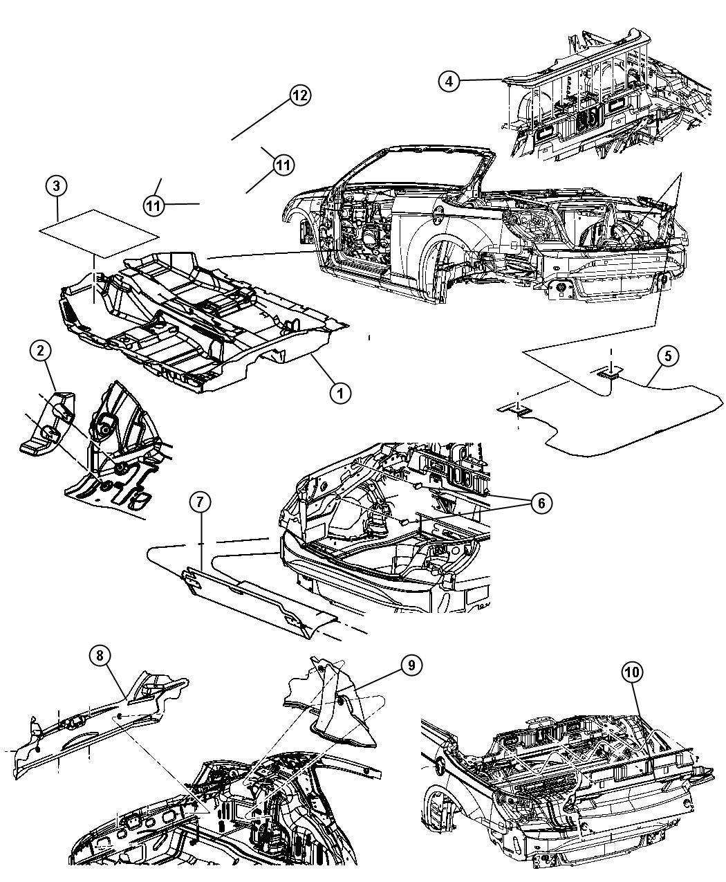 Chrysler Sebring Carpet  Wheelhouse  Right  Trim   All