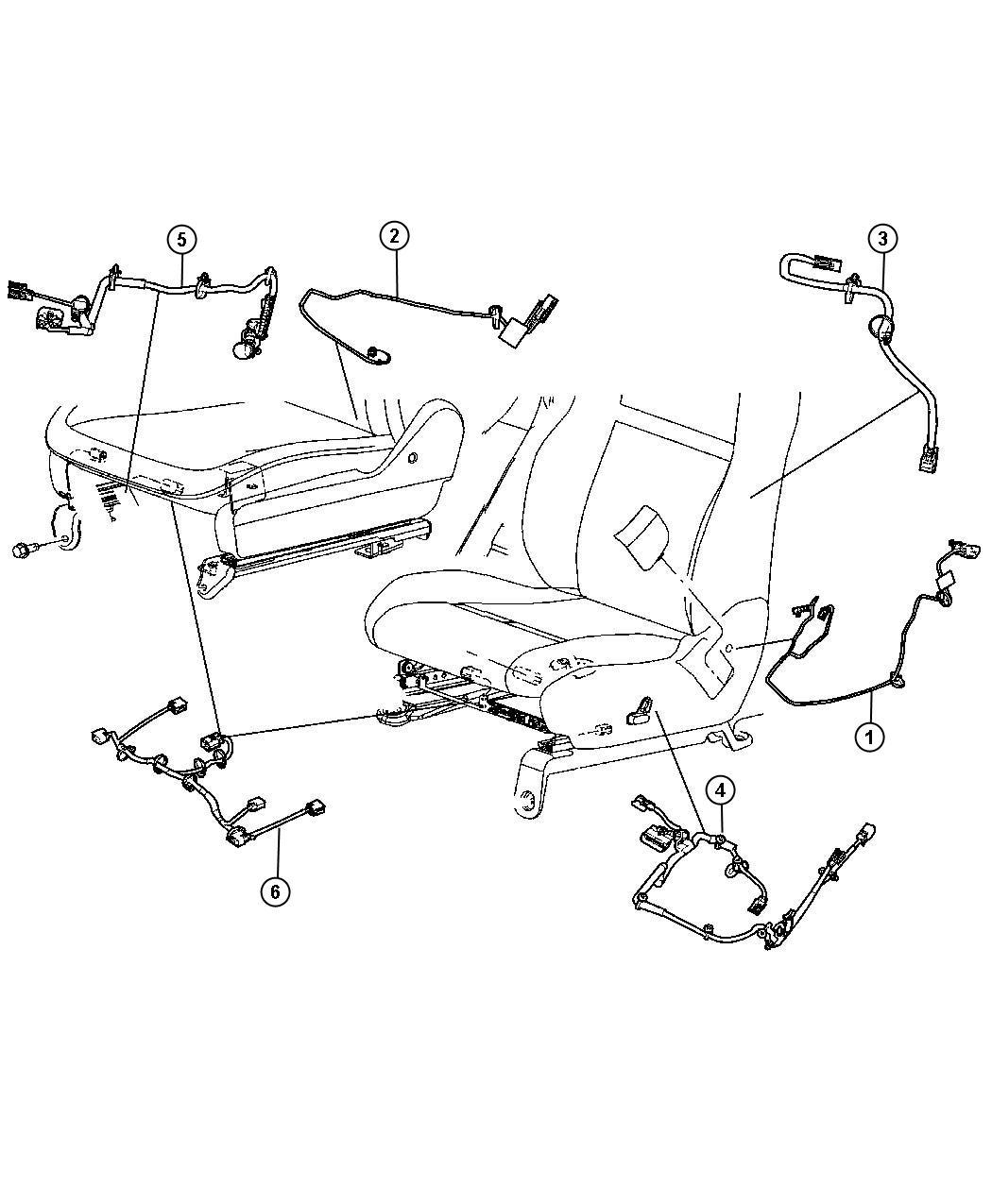 Jeep Grand Cherokee Wiring  Power Seat  Active Head Restraint  8 Way  Lumbar  Heated